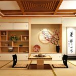 Ein Raum mit einer Tatamimatte. Perfekt für eine Teezeremonie vorbereitet.